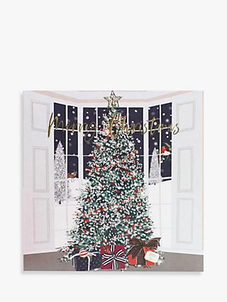 Belly Button Designs Tree in Window Christmas Card