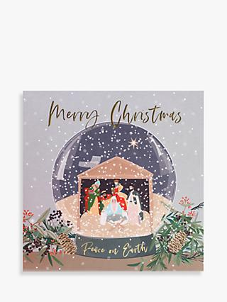 Belly Button Designs Nativity Snow Globe Christmas Card