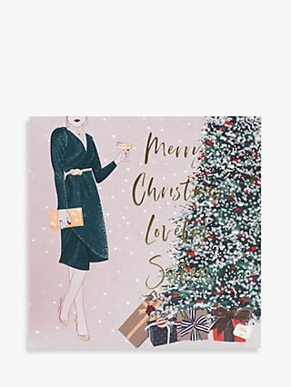 Belly Button Designs Lady Lovely Sister Christmas Card