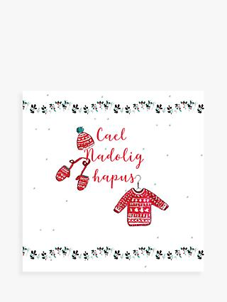 Laura Sherratt Designs Happy Jumper Welsh Christmas Card