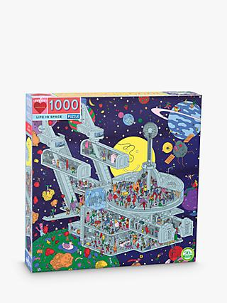 eeBoo Life in Space Jigsaw Puzzle, 1000 Pieces