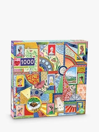 eeBoo UFO Victorian Ladies Jigsaw Puzzle, 1000 Pieces