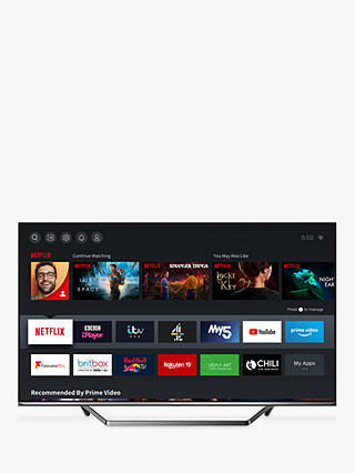 Buy Hisense 55U7QFTUK (2020) QLED HDR 4K Ultra HD Smart TV, 55 inch with Freeview Play & Dolby Atmos, Black Online at johnlewis.com