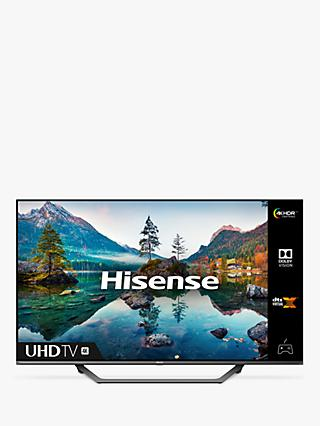 Hisense 50A7500FTUK (2020) LED HDR 4K Ultra HD Smart TV, 50 inch with Freeview Play, Black / Silver