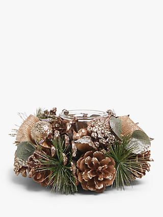 John Lewis & Partners Renaissance Pine Cone Tealight Holder