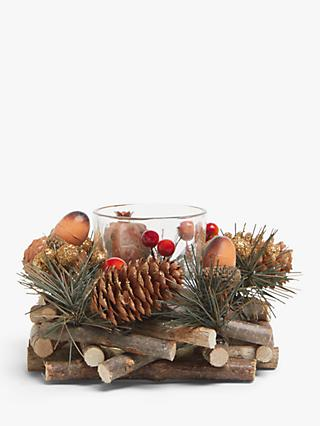 John Lewis & Partners Bloomsbury Pine Cone Tealight Holder
