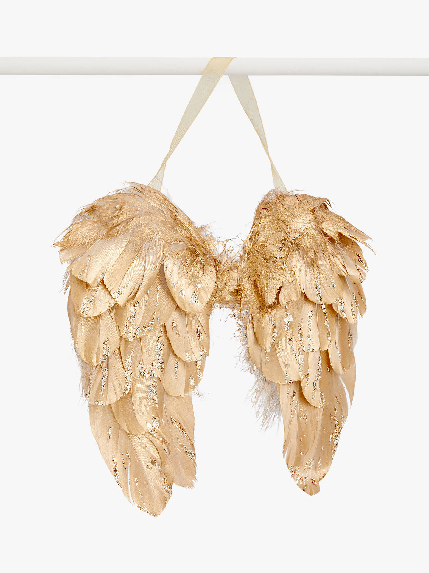 Buy John Lewis & Partners Renaissance Feather Wings Tree Decoration, Gold Online at johnlewis.com
