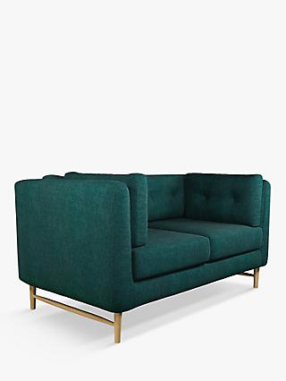 John Lewis & Partners Booth Small 2 Seater Sofa, Light Leg, Opal Dark Teal