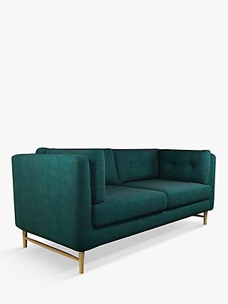Booth Range, John Lewis & Partners Booth Large 3 Seater Sofa, Light Leg, Opal Dark Teal