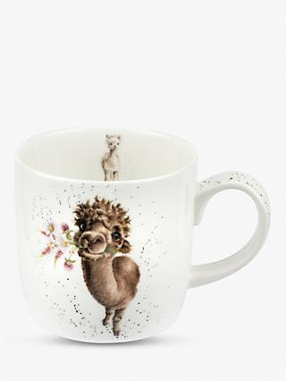 Wrendale Designs LLama Mug, 310ml, White