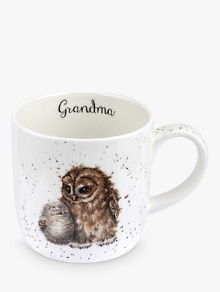 Wrendale Designs Grandma Owl Mug, 310ml, White/Multi