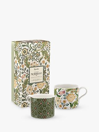 Morris & Co. Spode Blackthorn Mugs, Set of 2, 340ml, Green/Multi