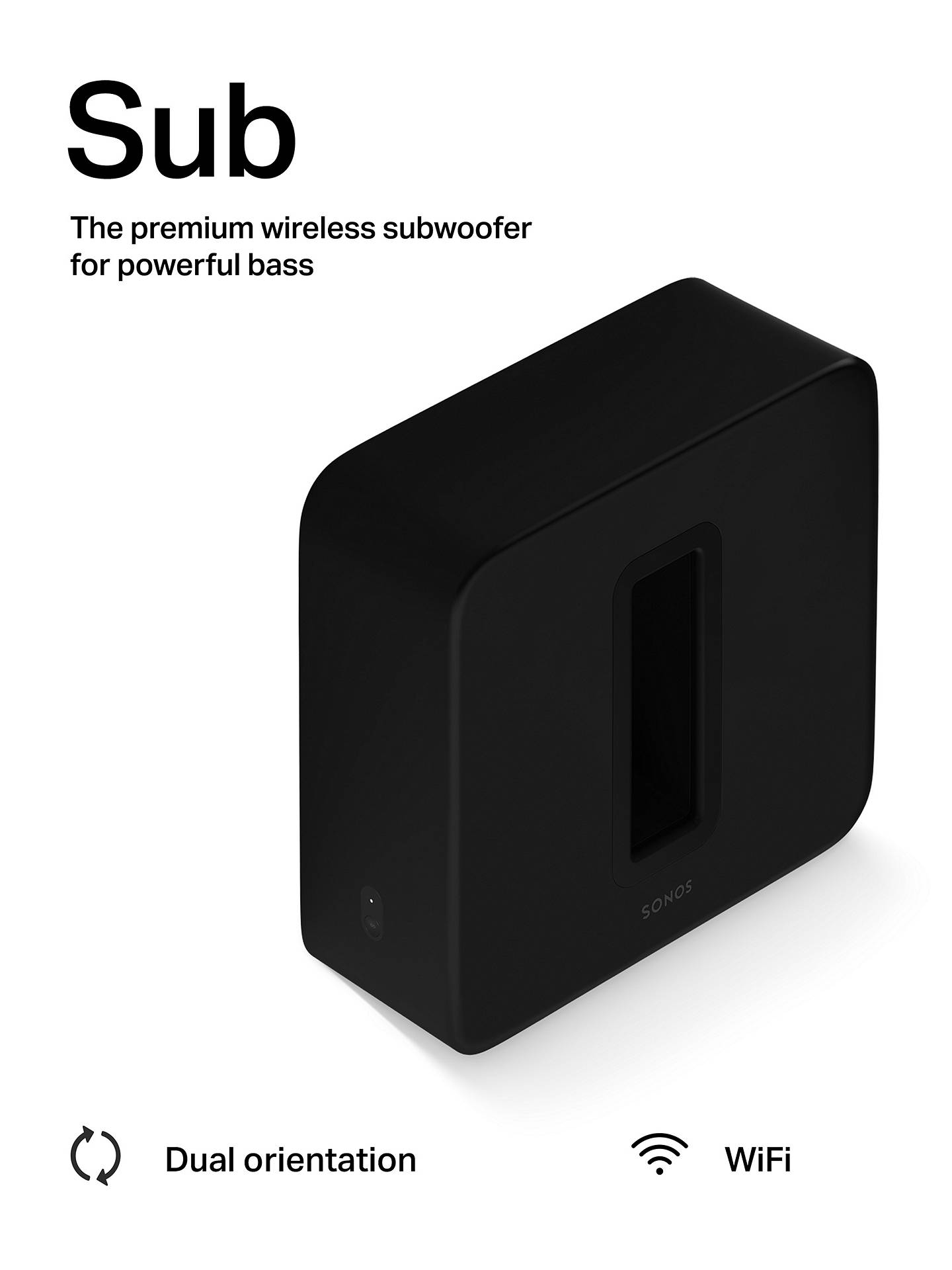 Buy Sonos Sub (Gen 3) Wireless Subwoofer, Black Online at johnlewis.com