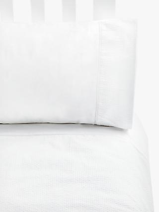 John Lewis & Partners Single Cotbed Duvet Cover and Pillowcase Set