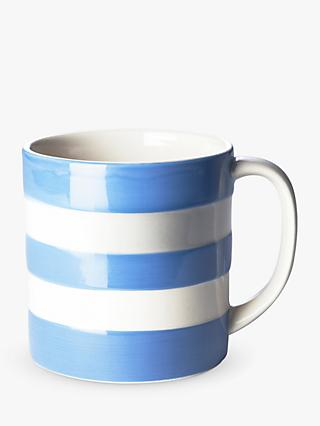 Cornishware Striped Mug, 420ml, Blue/White