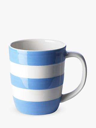 Cornishware Striped Mug, 340ml, Blue/White