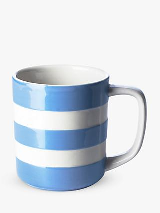 Cornishware Striped Mug, 280ml, Blue/White