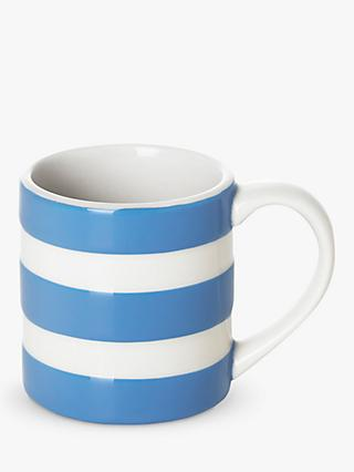Cornishware Striped Espresso Mug, 110ml, Blue/White