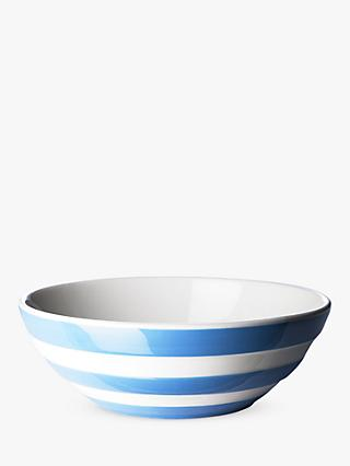 Cornishware Striped Cereal Bowl, 17cm, Blue/White