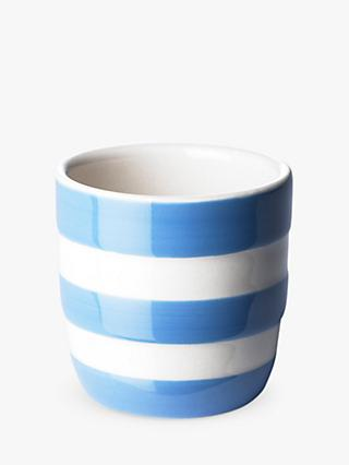 Cornishware Striped Egg Cups, Set of 4, Blue/White