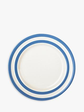 Cornishware Striped Side Plate, 17.8cm, Blue/White