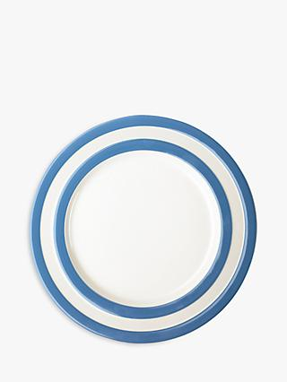 Cornishware Striped Dinner Plate, 28cm, Blue/White