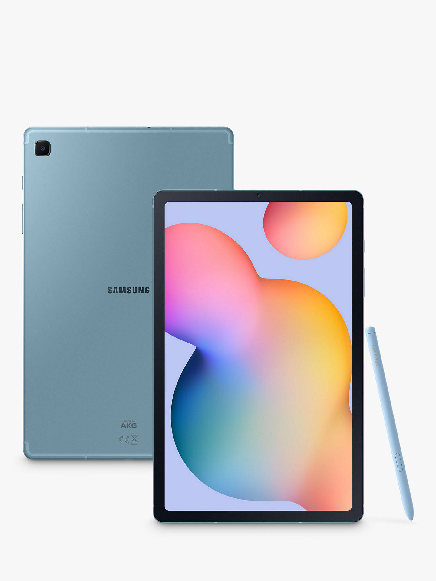 "Buy Samsung Galaxy Tab S6 Lite Tablet with S Pen, Android, 64GB, 4GB RAM, LTE, 10.4"", Angora Blue Online at johnlewis.com"