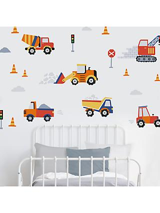 little home at John Lewis Construction Wall Stickers, Multi
