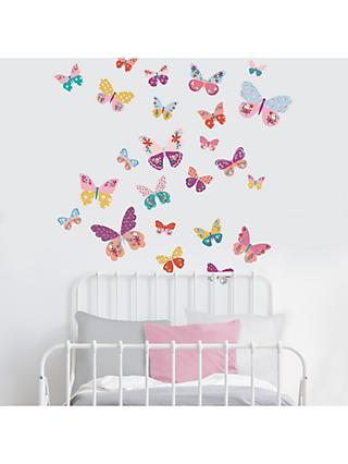 little home at John Lewis Butterflies Wall Stickers, Multi