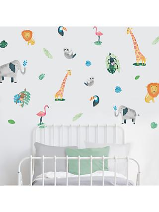 little home at John Lewis Safari & Friends Wall Stickers, Multi