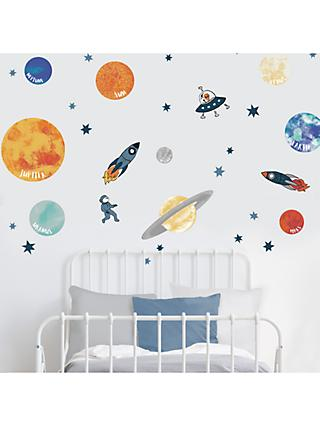 little home at John Lewis Outer Space Wall Stickers, Multi
