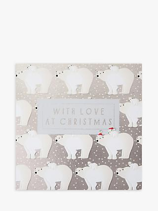 Wendy Jones Blackett Bears Love At Christmas Card