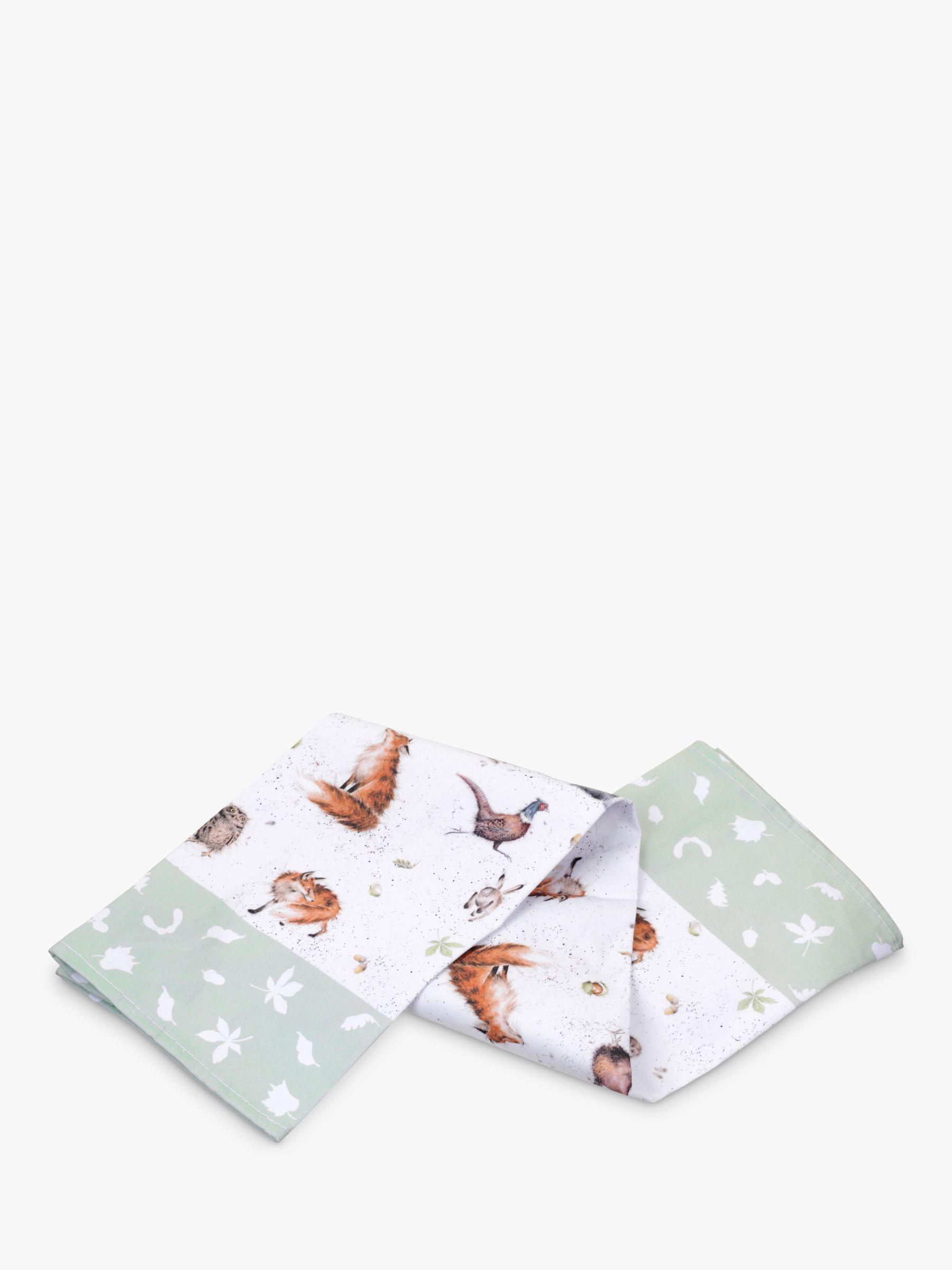 Wrendale Designs Woodland Wildlife Cotton Tea Towel, Multi