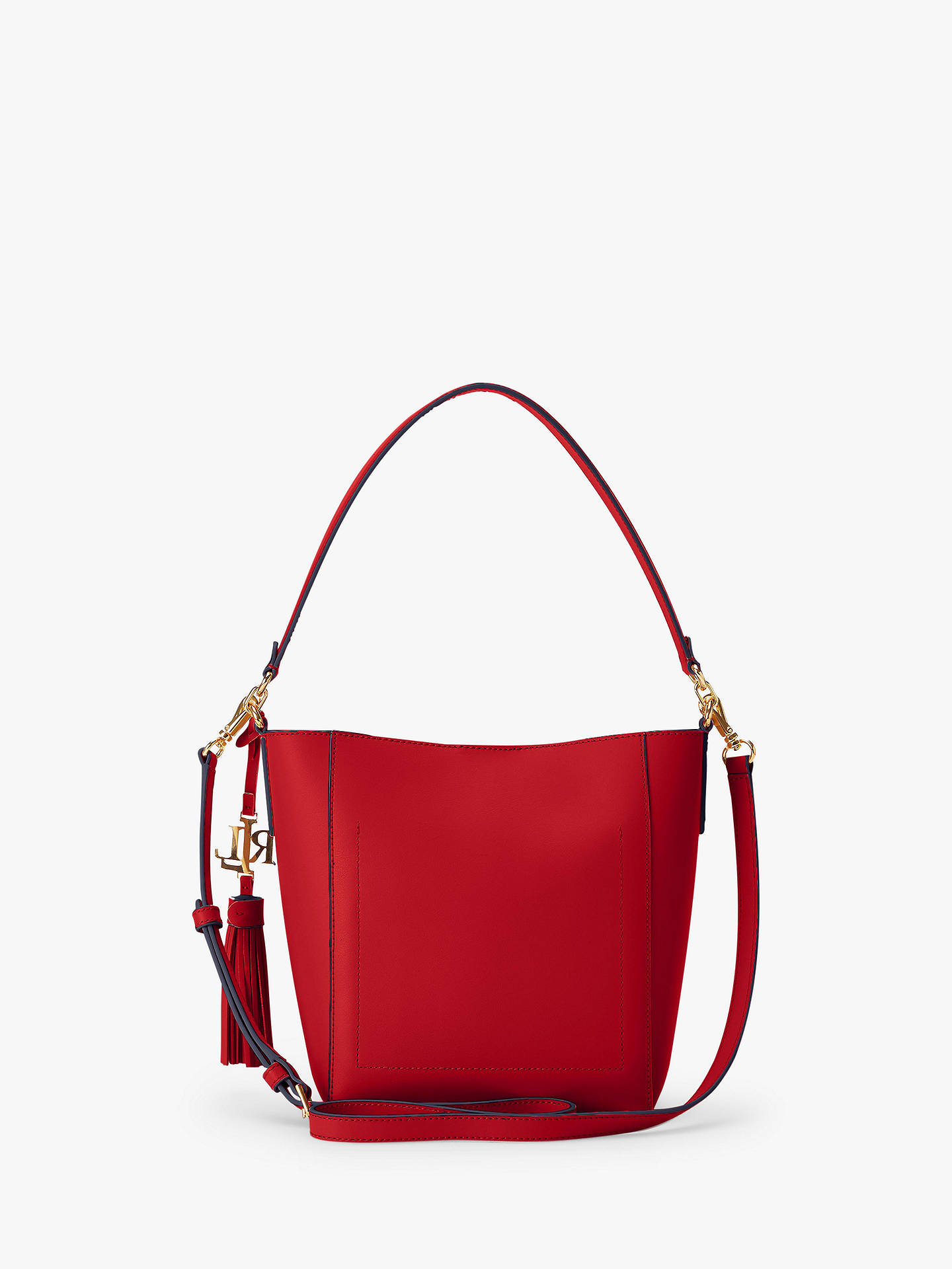 Lauren Ralph Lauren Adley 19 Leather Shoulder Bag, Black