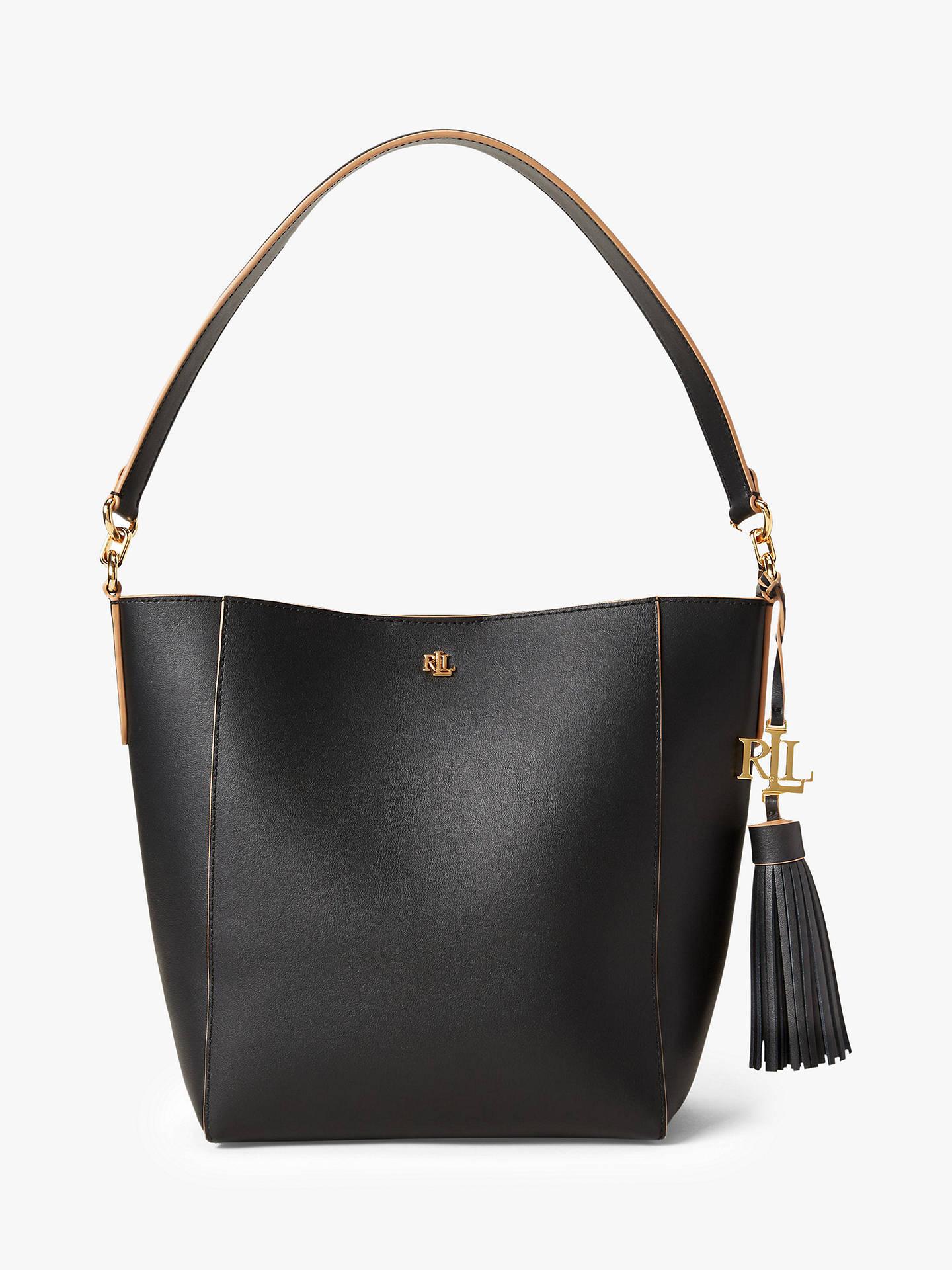 Lauren Ralph Lauren Adley 25 Leather Shoulder Bag, Black