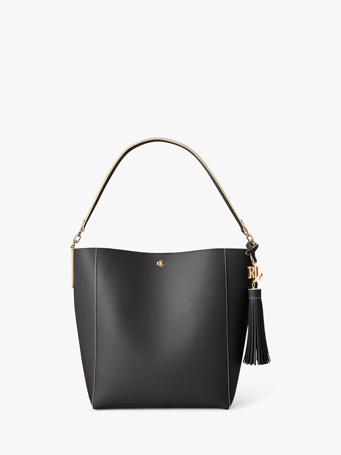 Lauren Ralph Lauren Adley 25 Leather Shoulder Bag, Nude at