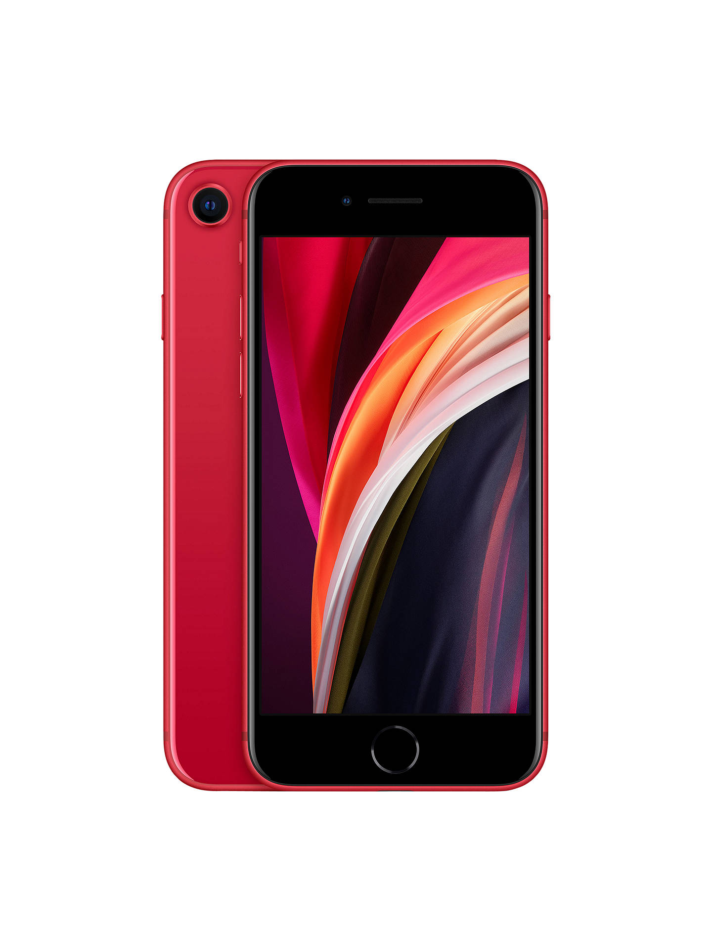 "Buy Apple iPhone SE, iOS 13, 4.7"", 4G LTE, SIM Free, 256GB, (PRODUCT)RED Online at johnlewis.com"