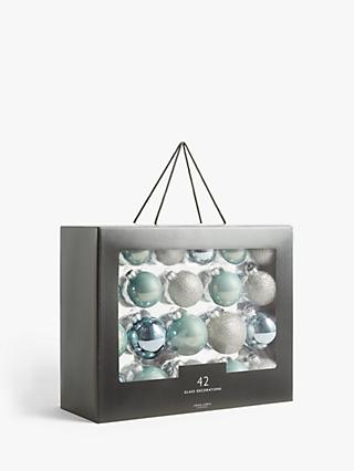 John Lewis & Partners Impressionism Baubles, Box of 42, Pastel