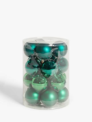 John Lewis & Partners Post Impressionism Baubles, Tub of 20, Green