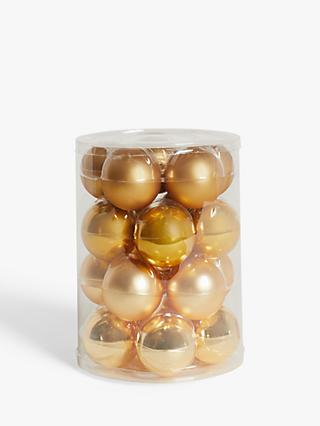 John Lewis & Partners Art Nouveau Baubles, Tub of 20, Gold