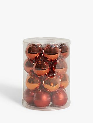 John Lewis & Partners Bloomsbury Baubles, Tub of 20, Copper