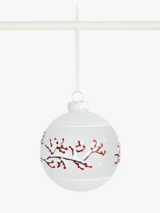John Lewis & Partners Art of Japan Branches Bauble, White