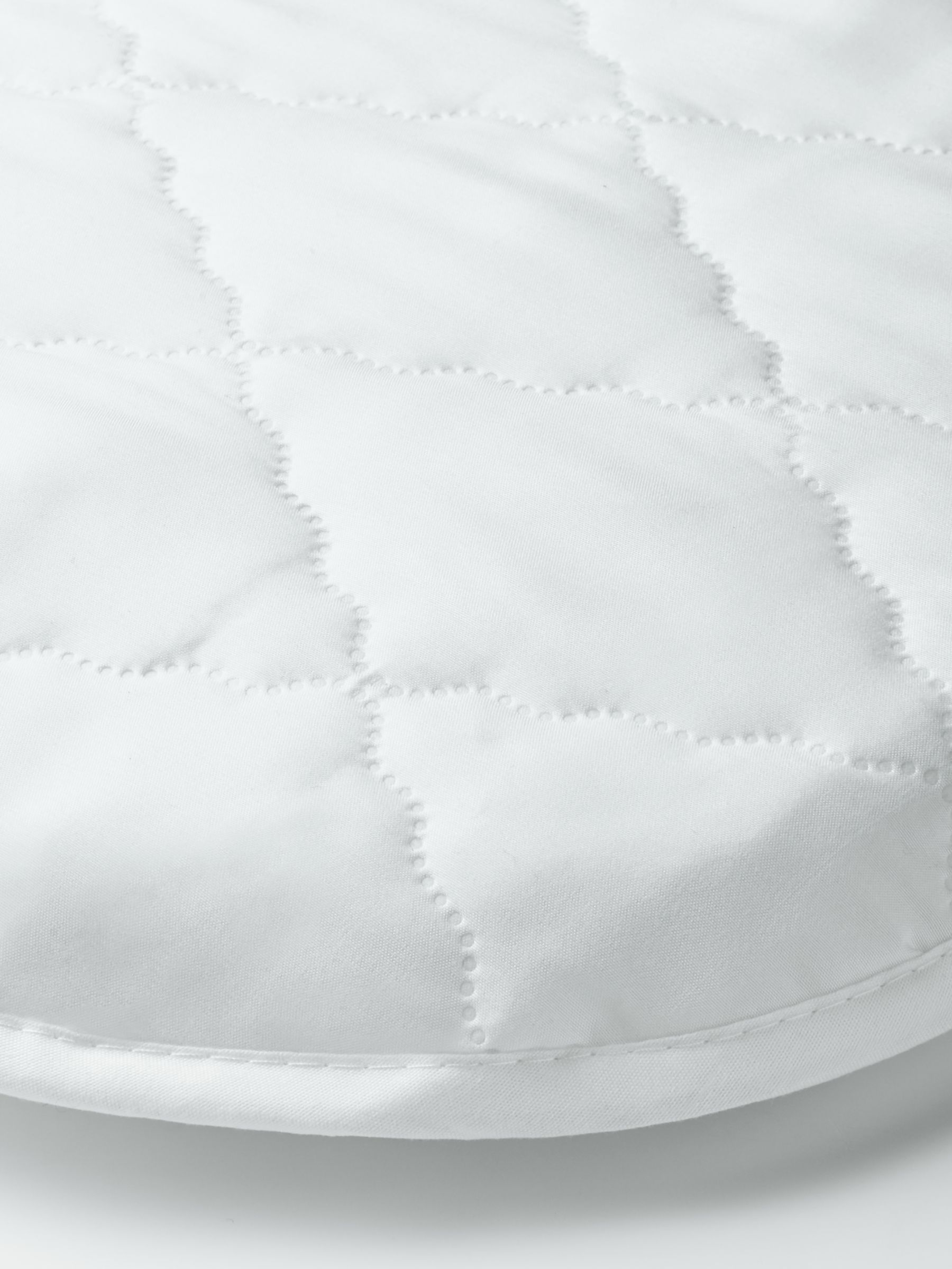ANYDAY John Lewis & Partners Micro-Fresh Easy Care Waterproof Moses Basket Mattress Protector