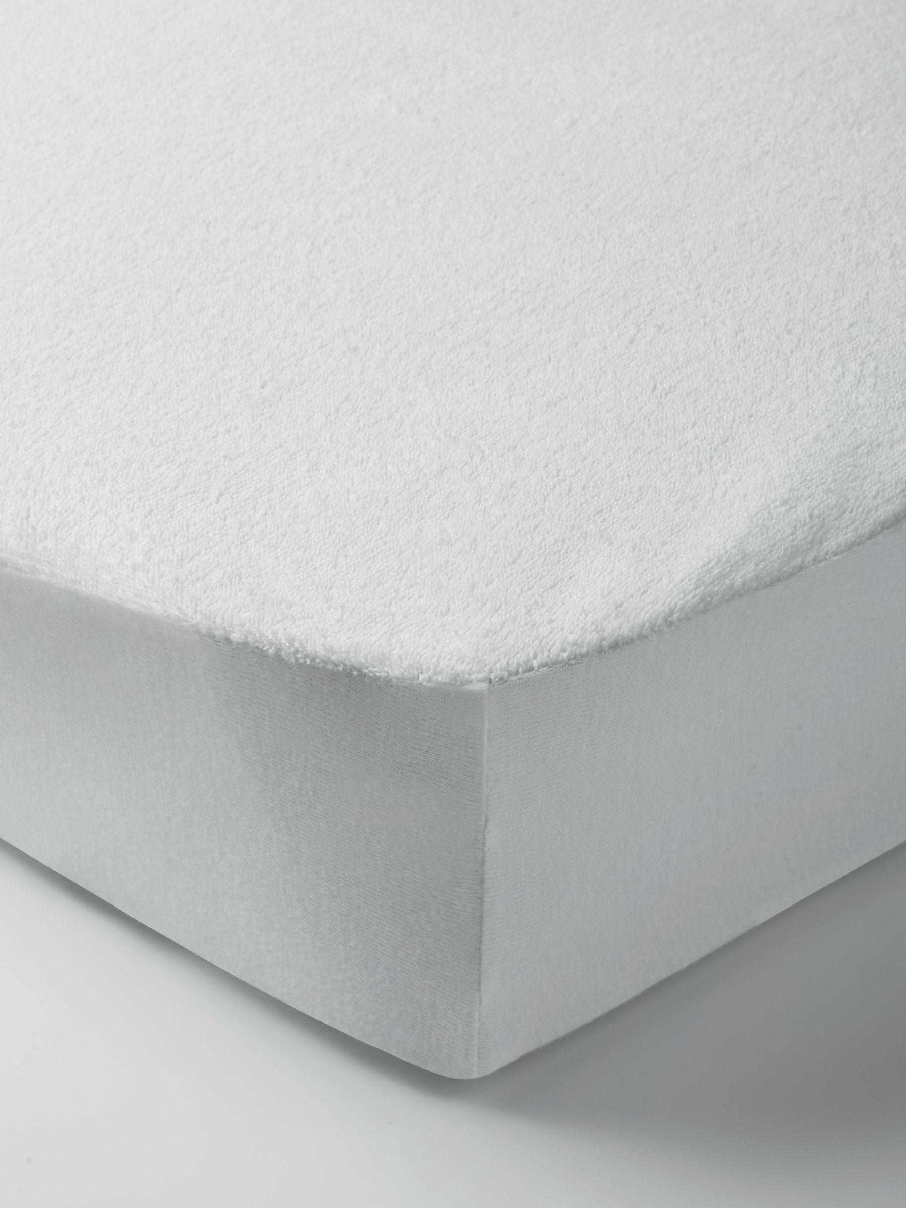 ANYDAY John Lewis & Partners Micro-Fresh Towelling Waterproof Cot Mattress Protector