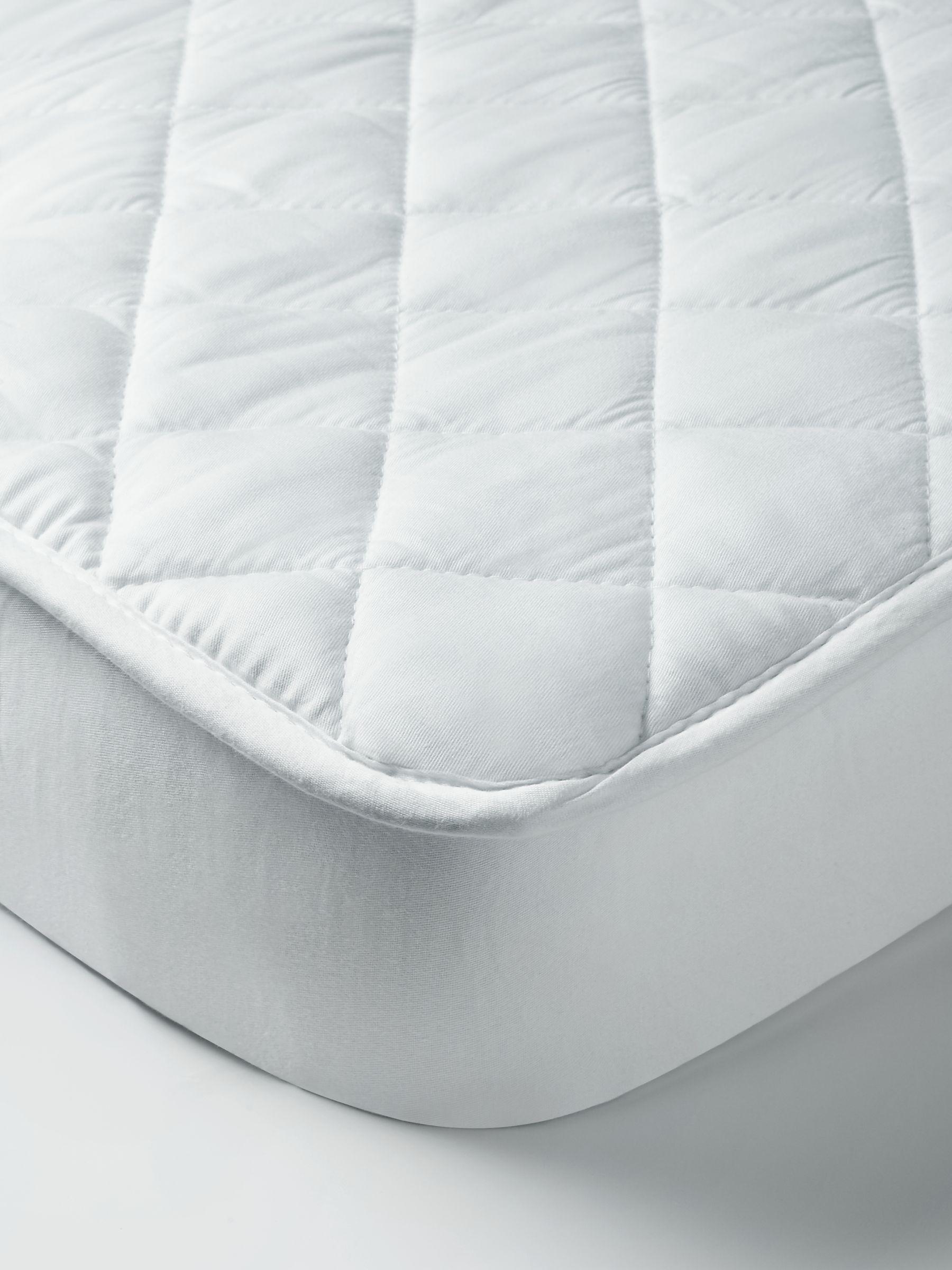 John Lewis & Partners Micro-Fresh Cotton Cot Mattress Protector