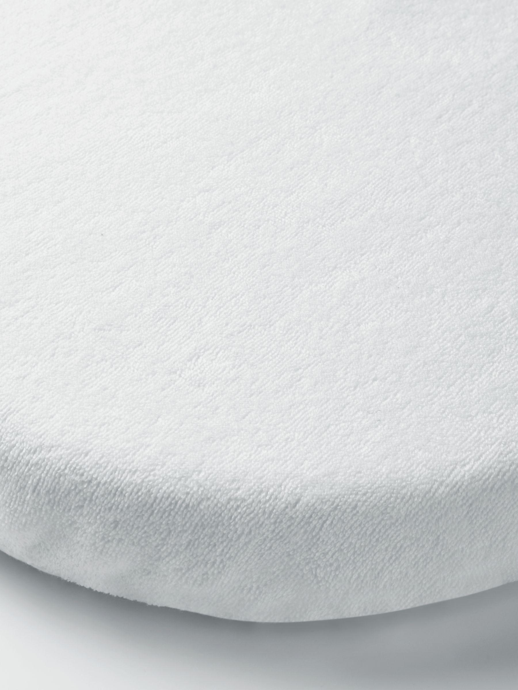ANYDAY John Lewis & Partners Micro-Fresh Towelling Waterproof Pram, Crib or Moses Basket Mattress Protector