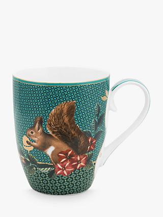 Pip Studio Winter Wonderland Large Squirrel Mug, 350ml, Green
