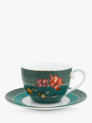 Pip Studio Winter Wonderland Cup and Saucer, 280ml, Green