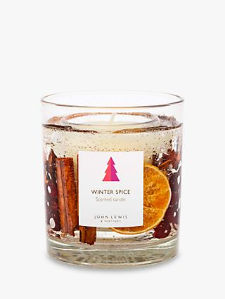 John Lewis & Partners Winter Spice Gel Scented Candle