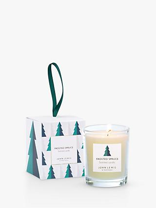 John Lewis & Partners Frosted Spruce Mini Scented Candle, 75g
